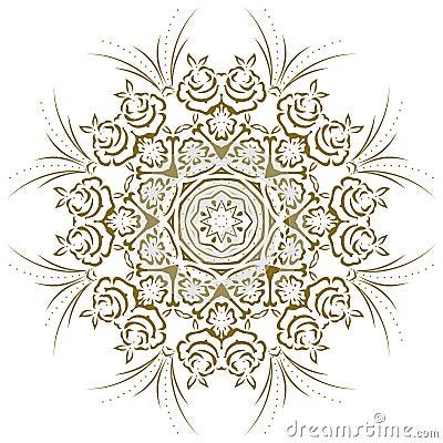 Mandala abstract floral