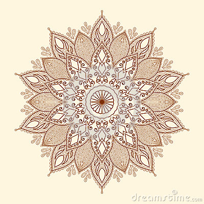 Free Mandala. Beautiful Hand-drawn Flower. Stock Photo - 31407560