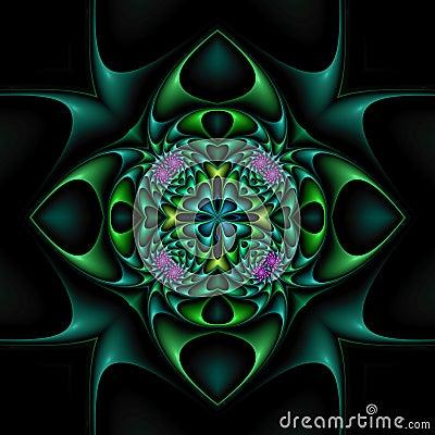 Mandala floral afilada