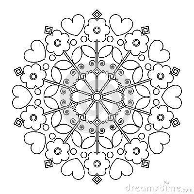 More similar stock images of ` Mandala with flowers for children s ...