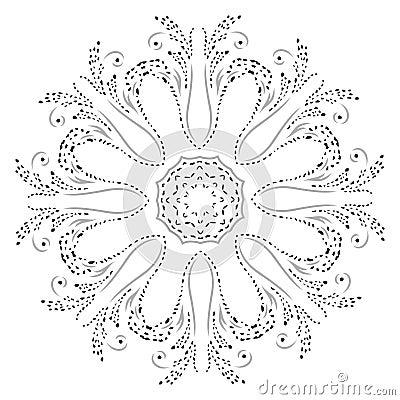 Mandala henna design fashion