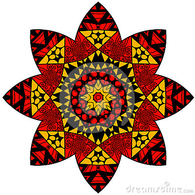 Free Mandala In Crazy Colors Stock Photography - 72321862