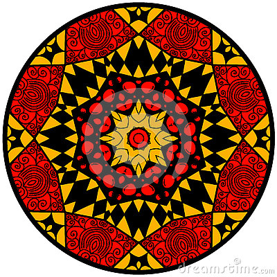 Free Mandala In Crazy Colors Royalty Free Stock Photography - 72874457