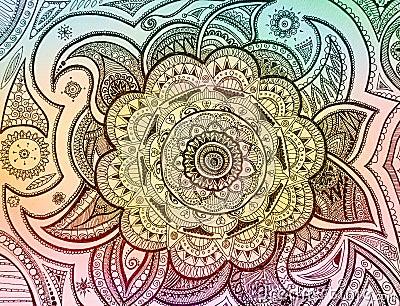 Mandala Paisley Stock Photo
