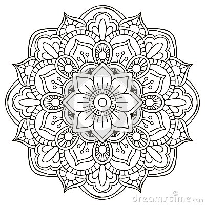 Free Mandala. Round Ornament Stock Photo - 46274660