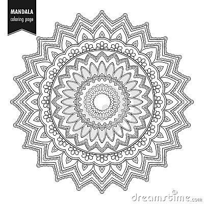 Free Mandala Round Ornament Bw Stock Image - 145304051