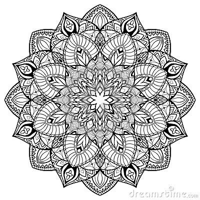 Mandala With Thin Lines Stock Vector Image 63212927