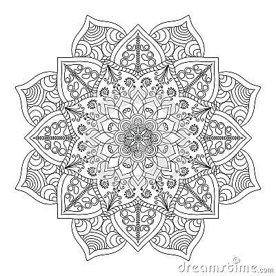 Mandala Vintage Round Ornament Pattern Islamic Arabic