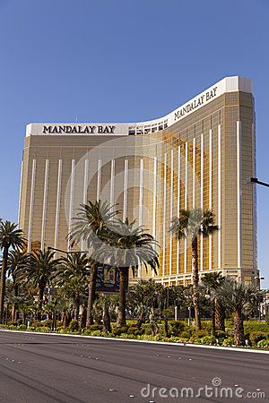 Mandalay Bay as viewed from the strip in Las Vegas, NV on April Editorial Image
