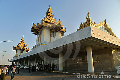 Mandalay International Airport Editorial Photography