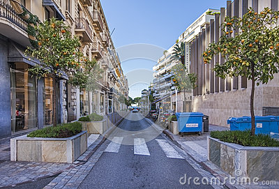 Mandarin alley in Cannes, France Editorial Stock Photo