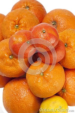 Mandarin and orange