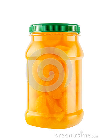 Free Mandarin Oranges In Light Syrup In Plastic Bottle Royalty Free Stock Images - 32287579