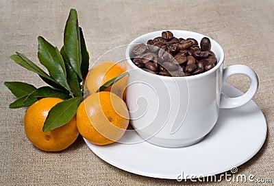 Mandarines and coffee