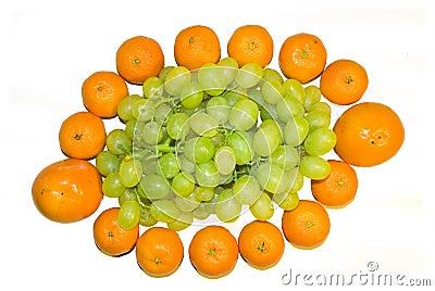 Mandarines and vine