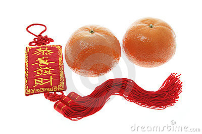 Mandarins and Chinese New Year Trinket