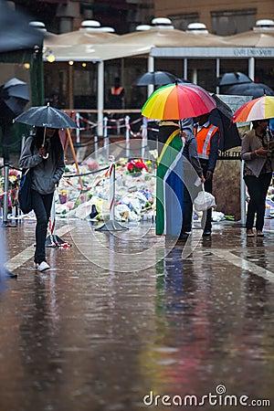 Mandela memorial day Editorial Stock Photo
