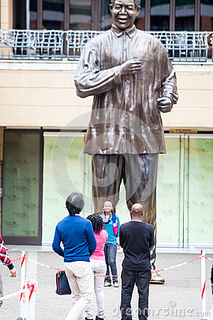 Mandela statue Editorial Stock Photo