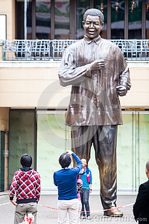Mandela statue Editorial Stock Image