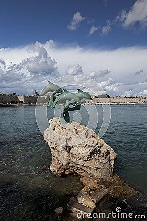 Free Mandraki Port Royalty Free Stock Photography - 24722047