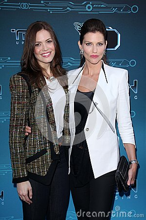 Mandy Moore, Tricia Helfer at Disney XD s  Editorial Photo