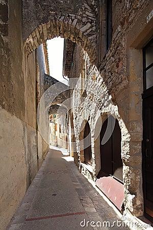 Manera medieval del callejón