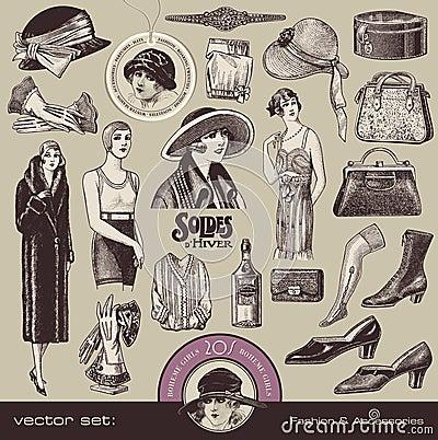 Manera y accesorios de las señoras