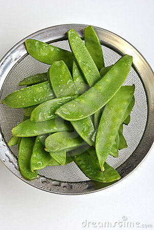 mangetout, also known as sugar snap pea
