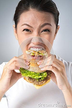 Mangeur d hamburger
