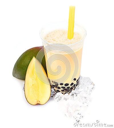 Free Mango Boba Bubble Tea Royalty Free Stock Image - 25401576