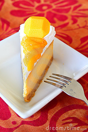 Mango Cheesecake Stock Photography - Image: 21067052