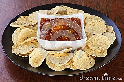 Mango Chutney and Mini Poppadums