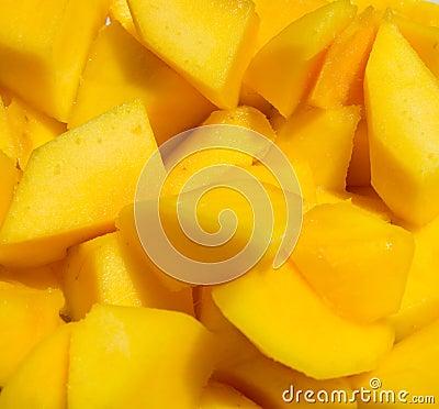 Mango cut in cubes