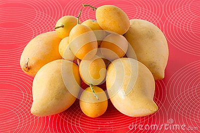 Mango and marian plum