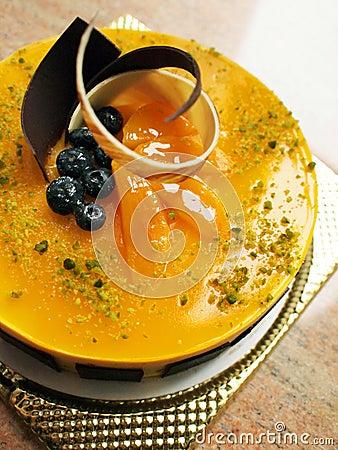 Free Mango Mousse Cake Stock Images - 13912114