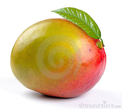 Free Mango With Leaves Stock Images - 14876934