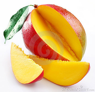 Free Mango With Sections Royalty Free Stock Photo - 11870295