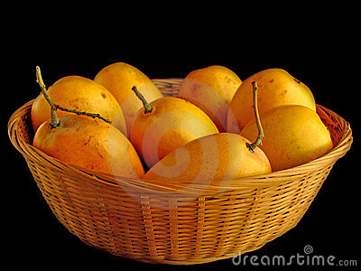 Mangoes in Basket