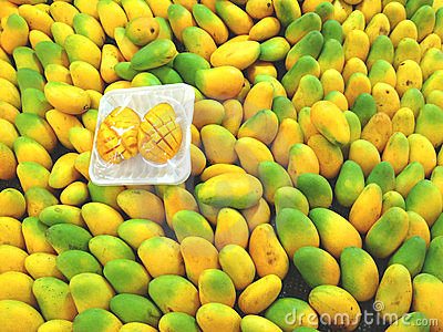 Mangoes in the super market