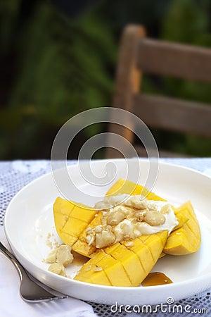 Mangofrucht-Frühstück