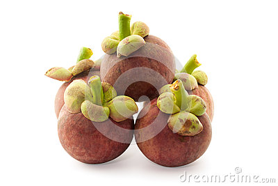 Mangosteen isolate on white background