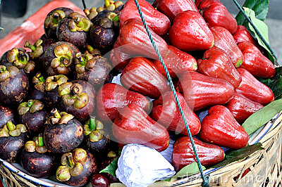 Mangosteen and wax apple