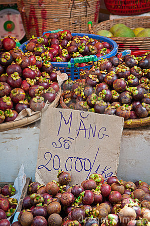 Mangosteens in the Market