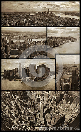 Free Manhattan Aerial Views On Grunge Royalty Free Stock Photo - 57077995