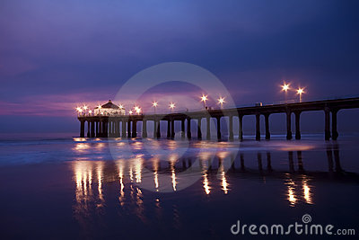Manhattan Beach Pier at Nightfall