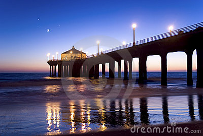 Manhattan Beach Pier at Twilight