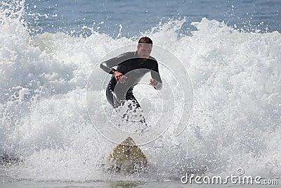 Manhattan Beach Surfing Editorial Image