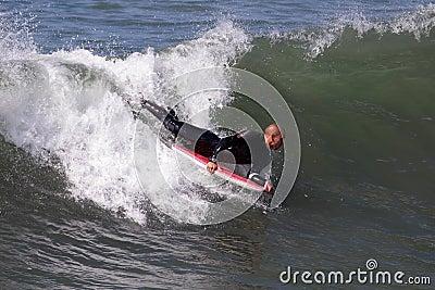 Manhattan Beach Surfing Editorial Stock Image