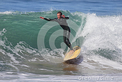 Manhattan Beach Surfing Editorial Stock Photo