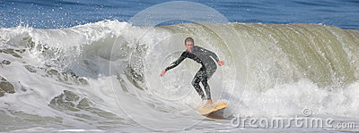 Manhattan Beach Surfing Editorial Image